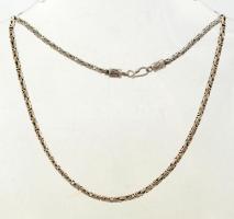 Ezüst(Ag) indiai nyaklánc, jelzett, h: 43 cm, nettó: 27,4 g