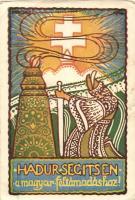 Hadúr segítsen a magyar feltámadáshoz kiadja a Turul Szövetség / irredenta, artist signed s: Piroska J. (EK)