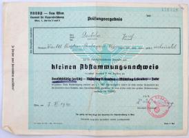 1940 Wien(Bécs), Az NSDAP által kiállított származási igazolvány, mely igazolja az illető német származását / NSDAP Abstammunsnachweis