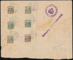 Nyugat-Magyarország 1921 Emléklap 6 db megszállási bélyeggel NYUGATMAGYARORSZÁGI FELKELŐK FŐPARANCSNOKSÁGA vonal- és körbélyegzéssel