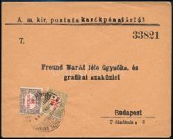 1923 Céges levél Hivatalos 50K és 100K bérmentesítéssel