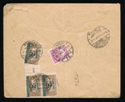 1927 Helyi levél Pengő-fillér 8f és Ikarusz 3 x 2f/1000K portóval
