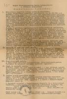 1948 A Magyar Filmalkalmazottak Szabad Szakszervezete I. Művészeti Szakosztályának munkaverseny felhívása