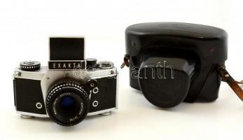 Exakta VX 1000 fényképezőgép Meyer-Optik Görlitz Domiplan 2,8/50 objektívvel, saját tokjában