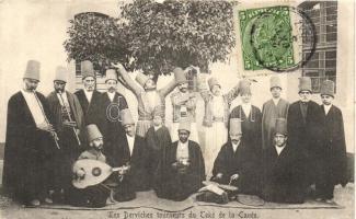 Les Derviches tourneurs du Teké de la Canée / Whirling Dervishes, Turkish folklore, TCV card