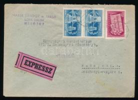 1949 Expressz levél Centenárium 60f és Lánchíd 1Ft pár bérmentesítéssel MEZŐTÚR - Budapest