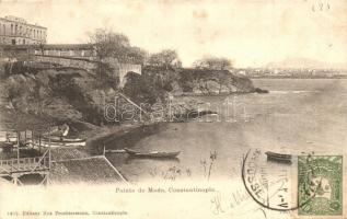 Constantinople, Istanbul; Pointe de Moda / sea shore, TCV card (fl)