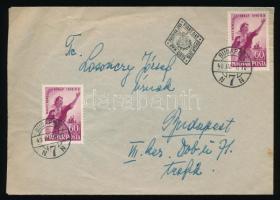 1949 Nőnap 2 db 60f FDC-n