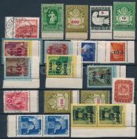 18 db klf ívszéli bélyeg dupla fogazással az 1940-es évekből