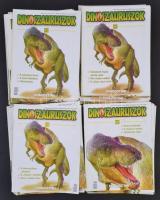 2008-2011 Dinoszauruszok 1-80. szám, a 79. szám hiányzik, valamint egy melléklet, papírkötésben, többségében jó állapotban.