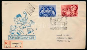 1952 Bélyegnap sor ajánlott FDC-n (3.800++)