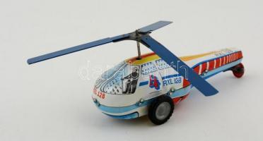 Régi játék helikopter, Lemezárugyár, jó állapotban, 15x7 cm.