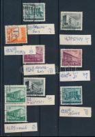 1951 Épületek 9 érték klf lemezhibákkal