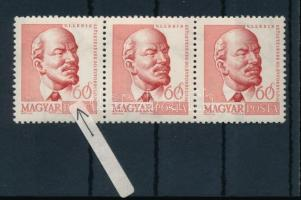 1960 Arcképek (II.) Lenin 3-as csík, benne fehér gallér tévnyomat