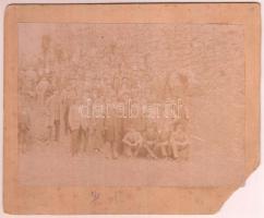 cca 1900 Választási emlék, kartonra ragasztott fotó, sarkán sérüléssel, 10x12 cm