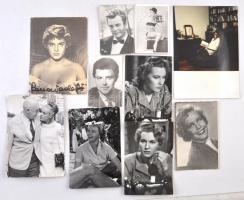 10 db színész fotó (Gerard Philippe, Marcello Mastroianni, Kay Winter..stb.), különféle méretben.
