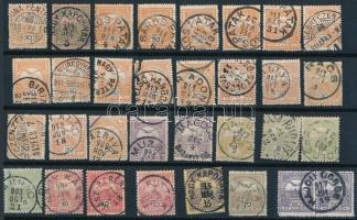 32 db Turul bélyeg egykörös bélyegzésekkel