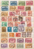 Pengő-fillér időszak összeállítás, benne 41 db bélyeg egykörös bélyegzésekkel