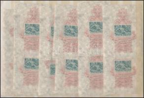 1940 Árvíz (I.) 12 db blokk