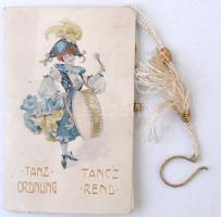 1908 Jelmezestély táncrendje, használatlan