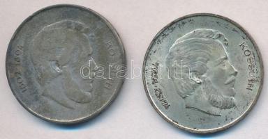 1947. 5Ft Ag Kossuth (2x) T:2,3 patina Adamo F8.1
