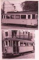 8 db BKV villamosokat és a fogaskerekűt ábrázoló fotó, modern előhívások, 10x13 és 15x10 cm