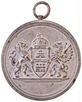 ~1920. Budapest Sport Egyesület Versenydíja ezüstözött Br díjérem akasztóval (41mm) T:2-