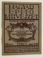 1914 Magyar Építőművészet, XII. évf. 9.-10. szám, Szerk.: Führer Miklós, kissé szakadozott papírborítóban.
