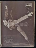 1964 Képes Sport, XI. évf. 2-53 számok, félvászon kötésben, kopottas borítóval.