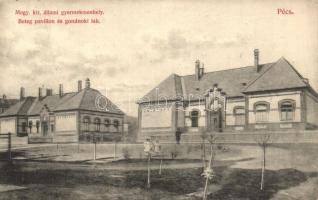 Pécs, Állami gyermekmenhely, Beteg pavilon és gondnoki lak