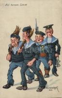 Auf kurzem Schritt / K.u.K. mariners humour, C. Fano Pola s: Ed Dworak (EK)