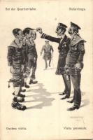 Bei der Quartiervisite / Ruhavizsga / K.u.K. mariners humour, officers, SMS Tegetthoff, K.u.K. Marinefeldpost, C. Fano Pola s: Ed Dworak (EB)
