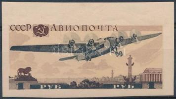 1937 Moszkvai repülő blokkból kivágott Mi 570 (**Mi EUR 40,-)