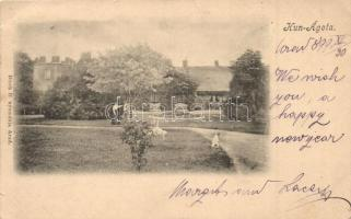 1899 Kunágota, kastélykert, Bloch H. kiadása (kis szakadás / small tear)