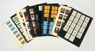 191 db közepes és 4 db nagy méretű belga és szovjet gyufacímke, 12 kartonlapon (Híres írók, költők, belga harcosok, híres ókoriak...stb.)