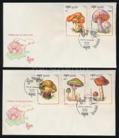 Gomba sor 2 db FDC-n Mushrooms set on 2 FDC