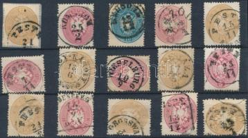 1863 15 db bélyeg szép/olvasható bélyegzésekkel