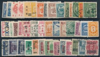 Kína 1910-1949 43 db vegyes bélyeg