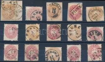 1864 15 db bélyeg szép/olvasható bélyegzésekkel
