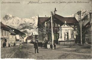 Admont, Leopoldinenbrunnen / well, spa, mountains (b)