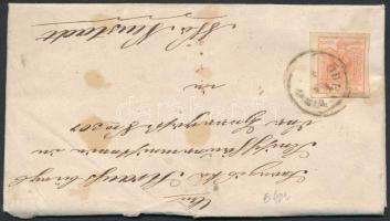 ~1855 3kr levélen ÖDENBURG
