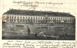 Zimony, Zemun, Semlin; Honvéd laktanya / Landwehr Kaserne / military barracks