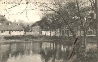 Dárda, Gyola-tó a kastély egyik részével / lake, castle (EK)