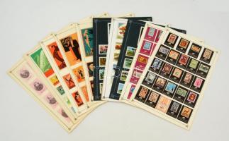 184 db közepes és 8 db nagy német és szovjet gyufacímke, 11 db kartonlapon (Bélyeg, erdei állatok, feszivál, erdei állatok...stb)