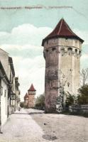Nagyszeben, Hermannstadt, Sibiu; Hartenecktürme / torony / tower (EK)