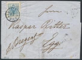 1854 9kr levélen NEUSATZ