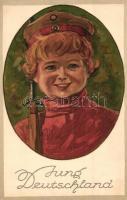 Jung Deutschland. Wenau Postkarte Pastell No. 562.