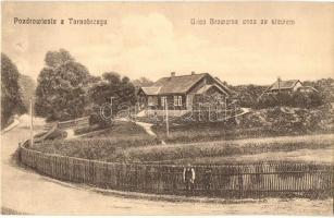 Tarnobrzeg, Ulica Browarna wraz ze stawem / Browarna street with a pond, lake