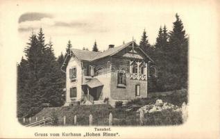 Szebenjuharos, Hohe Rinne, Paltinis; Kurhaus Tannhof auf der hohen Rinne / gyógyház a hegyen / spa, rest house, mountain