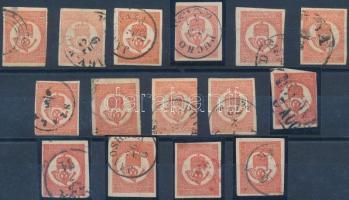 1871 15 db Kőnyomású Hírlapbélyeg (min. 105.000)